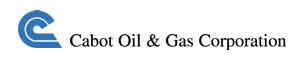 キャボットオイルアンドガスのロゴ